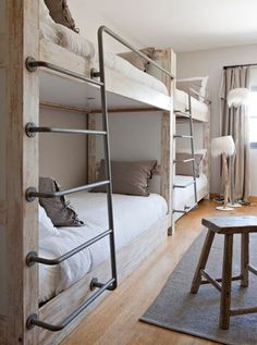 built in bunk beds More