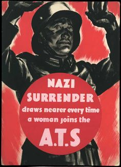 British ATS recruitment/propaganda poster from WW2