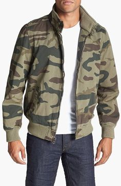 Dockers® 'Barracuda' Camo Bomber Jacket | Nordstrom