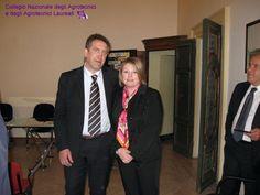Andrea Sisti, Presidente dei Dottori Agronomi e Forestali e Marina Calderone.