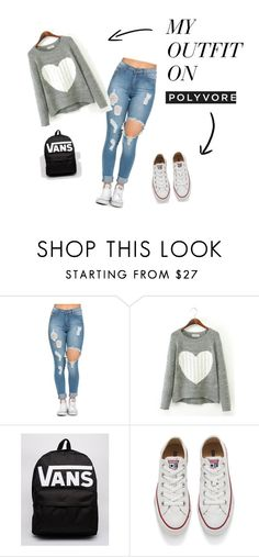 """""""ююю"""" by veronika-altanez on Polyvore featuring Vans, Converse, women's clothing, women, female, woman, misses and juniors"""