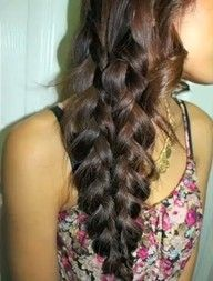 Mermaid braid! I saw the tutorial on youtube to how to do this! Simple stuff!