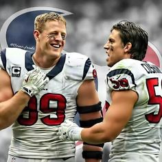 JJ watt and Brian Cushing two headed beast
