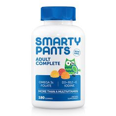 Amazon.com: SmartyPants Adult Complete Gummy Vitamins: Multivitamin & Omega 3 DHA/EPA Fish Oil, Methyl B12, Vitamin D3, 180 count (30 Day Supply): Health & Personal Care