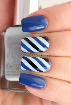 For this week in the 52 Week Pick n Mix Challenge the choices are domestic animals or three shades of blue. I didn't fancy putting cats or dogs or rabbits on my nails, so went with the three blues prompt. I've done some diagonal stripes. Diagon [...]