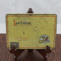 Vintage Cigarette Tin by Sportsman  Retro by LoAndCoVintage