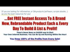 Make Money With Resell Rights, Master Resale Rights And Private Label Rights Products . High converting Master Resell Rights Bundle. Private Label, Free Ebooks, Internet Marketing, Script, How To Make Money, Coding, Good Things, Programming