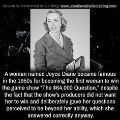 women A woman named Joyce Diane became famous - Historia Universal, Wtf Fun Facts, Random Facts, Random History Facts, True Facts, Funny Facts, Faith In Humanity Restored, Interesting History, Interesting Facts