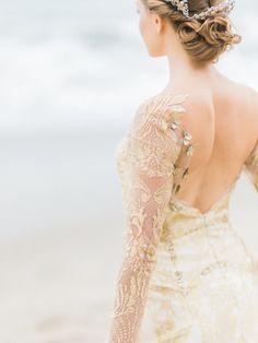 Best Wedding Dresses & Gowns Image Description Gold dress: www. Mod Wedding, Wedding Bells, Wedding Beauty, Dream Wedding, Gowns 2017, Couture Wedding Gowns, Wedding Designs, Bridal Dresses, Bridesmaid Dresses