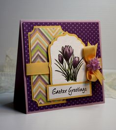 Handmade Easter Card  Greeting Card  Note Card  by CardInspired