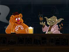 The Art of Matt Synowicz: Two Muppets Walk Into a Bar