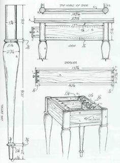 Woodworking plan for table. Complete woodworking plans with detail descriptions can be found on my website: www.tedswoodworkplans.com