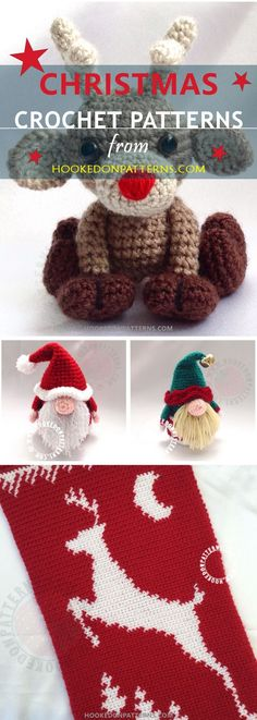 Christmas Crochet Patterns from Hooked On Patterns. Check out our selection of Xmas crochet patterns (free and paid) for ornaments, decorations, Christmas stockings and Santa Gonk.