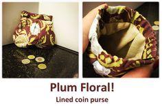 Plum Floral! Coin Purses, Baby Car Seats, Plum, Children, Floral, Collection, Coin Wallet, Kids, Coin Purse