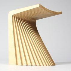 Chris Hardy - Pleat Stool. Plywood. Height 47cm.