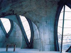 The Steinkirche (rock-church) | Cazis, Graubünden, Switzerland |  architect Werner Schmidt