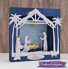 Create a Nativity Tunnel Card Religious Christmas Cards, Diy Christmas Cards, Christmas Nativity, Christmas Paper, Xmas Cards, Holiday Cards, Christmas Printables, Christmas Tree, Christmas Bells