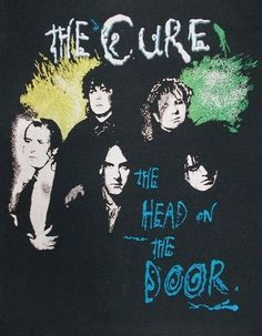 Vintage 80s THE CURE The Head On The Door ENGLISH ROCK Concert TOUR T-Shirt S O