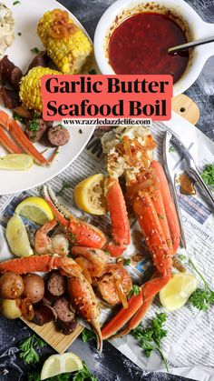 Seafood Broil, Seafood Boil Party, Best Seafood Recipes, Crab Recipes, Seafood Butter Sauce Recipe, Make Garlic Butter, Pescatarian Diet, Frozen Seafood, Stroganoff Recipe