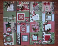 Hutton's arts and crafts. KaiserCraft Basecoat Christmas 6,5x6,5 Paper pad PP947. Hand made card. Handmade Christmas Card.