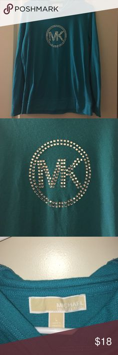 "✨NEW✨ Michael Kors Pullover Hoodie Pullover Hoodie from Michael Kors. Has ""MK"" in bling on front. Great Condition and Color! 💕✨ Michael Kors Tops Sweatshirts & Hoodies"