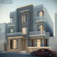 House Front Design, Modern House Design, House Elevation, Villa Design, Facade House, Exterior Design, Interior Architecture, Style At Home, Home Fashion