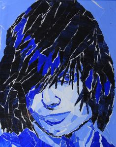 Churchill High School - Visual Design, Torn Paper/Self Portraits