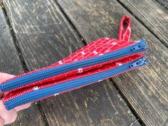Brinkley Double Zipper Pouch / Cross Body Bag Diy Pouch No Zipper, Zipper Pouch Tutorial, Leather Bag Pattern, Cell Phone Pouch, Wallet Pattern, Makeup Pouch, Purse Wallet, Cross Body, Purses And Bags