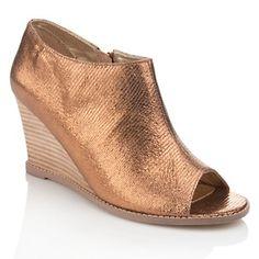 "Matt Bernson® Special Project ""Sahara"" Leather Peep-Toe Wedge at HSN.com."