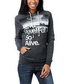 Hunting To Feel Alive Charcoal Hoodie