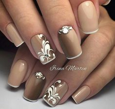 Pictures Of Nail Art Designs Collection super schn brautnagelkunst schne gelngel und nageldesign Pictures Of Nail Art Designs. Here is Pictures Of Nail Art Designs Collection for you. Pictures Of Nail Art Designs these chic nail art designs show h. Elegant Nail Designs, Elegant Nails, Beautiful Nail Designs, Nail Art Designs, Nails Design, Brown Nail Designs, Nail Art Design 2017, French Pedicure Designs, Beautiful Nail Art
