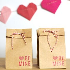 Make your own Valentine themed favor bag to fill with your tasty treat of choice! Baker's twine is good for so many things!