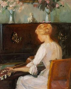 Young Woman Playing a Guitar Before a Piano (Anna Ancher) - Anna Ancher - Wikipedia