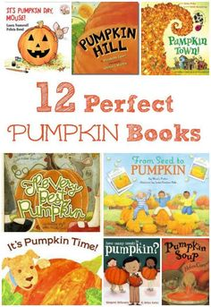 So many great seasonal reads!  Fun pumpkin books for kids that connect with Fall activities.