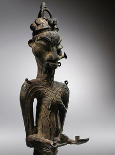 Statue, Yoruba-Ijebu, Nigeria haut. 56 cm