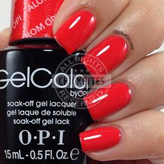 66 best Ideas for nails red opi gel products Red Gel Nails, Opi Gel Polish, Opi Nails, Gel Manicures, Red Nail, Pastel Nails, Bling Nails, White Nails, Acrylic Nails