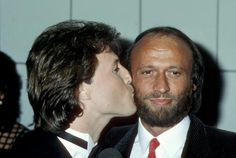 Andy Gibb and Maurice Gibb during 11th Annual American Music Awards at Shrine Auditorium in Los Angeles California United States