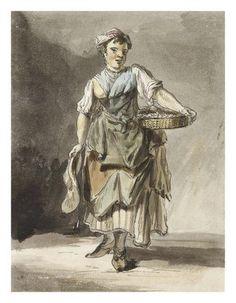 Shrimp girl: 1759 Paul Sandby © Museum of London: