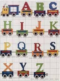 Resultado de imagen de abecedario punto de cruz