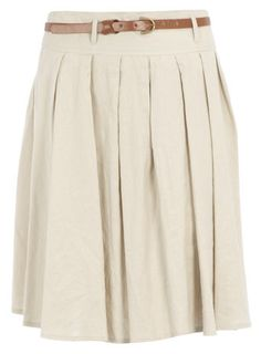 I would love a linen skirt like this.