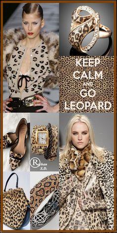 '' Leopard Print '' by Reyhan S. Color Me Badd, Cheetah Print Shirts, Color Collage, Leopard Fashion, Pantone Color, Color Trends, Color Inspiration, Color Patterns, Autumn Winter Fashion