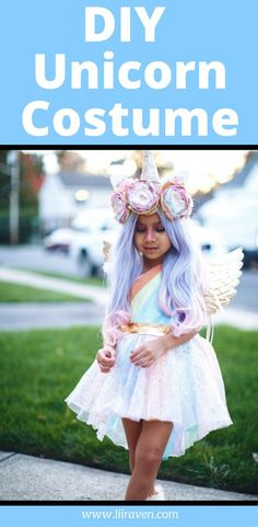 Are you looking for a cute halloween costume for girls? If so, you have to check out this adorable unicorn costume! It's even a DIY unicorn costume made with a cute dress, a wig, a horn and more. We even did a mommy and me matching unicorn costumes. Diy Halloween Costumes For Girls, Unicorn Halloween Costume, Kids Costumes Girls, Halloween Kids, Costume For Girls, Halloween Makeup, Cute Kids Halloween Costumes, Halloween Stuff, Cute Girl Costumes