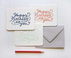 Birthday Cards for Anthropologie. by Meg Gleason, via Flickr