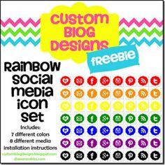 Free Rainbow Social Media Icons
