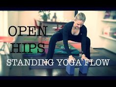 BASIC YOGA FLOW // Standing Poses to Open Hips for Indian Style, Easy Seat - YouTube