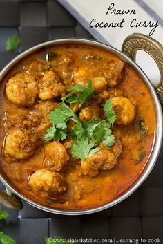Learning-to-cook: Prawn Coconut Curry | Coconut Shrimp Curry | Indian Prawn Recipes