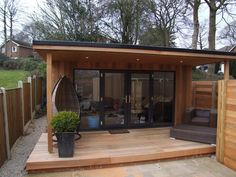 Aspire – Sanctum Garden Studios shed design shed… Backyard Office, Backyard Studio, Backyard Sheds, Backyard Retreat, Garden Office, Backyard Patio, Summer House Garden, Home And Garden, Garden Art