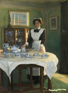 Teatime Artwork By Albert Ranney Chewett Oil Painting & Art Prints On Canvas For Sale Tea Art, Art Uk, Canadian Artists, English Artists, Art Themes, Vintage Tea, Oeuvre D'art, Afternoon Tea, Canvas Art Prints