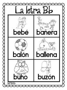Learning Spanish For Kids, Spanish Language Learning, Teaching Spanish, Learning Italian, Teaching French, Spanish Alphabet Letters, French Alphabet, Preschool Letters, Preschool Worksheets