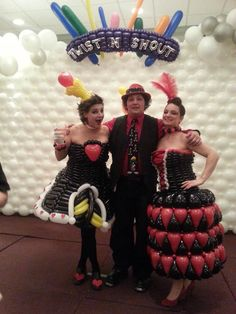 Balloon dresses, with amazing models from twist and shout 2014 #mrballoonatic #balloonfashion #stunningballoondresses